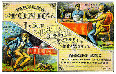 Painting - 19th C. Parker's Medical Tonic by Historic Image