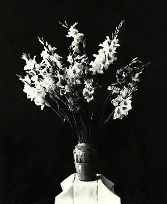 Photograph - 19th C. Vase Of Flowers by Historic Image