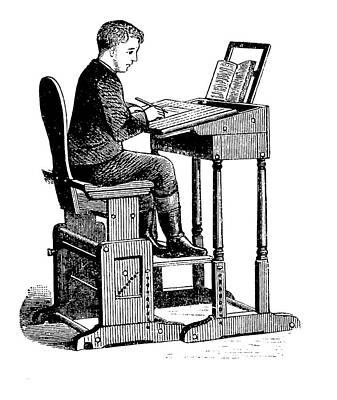 19th Century Adjustable School Desk Print by Bildagentur-online/tschanz