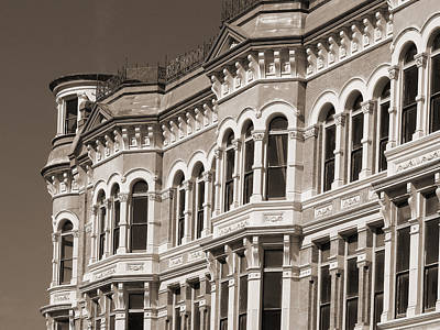Photograph - 19th Century Architecture In Sepia by Connie Fox