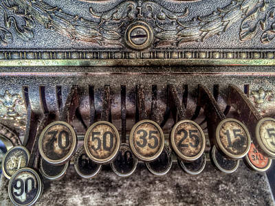 Photograph - 19th Century Cash Register by Bill Owen