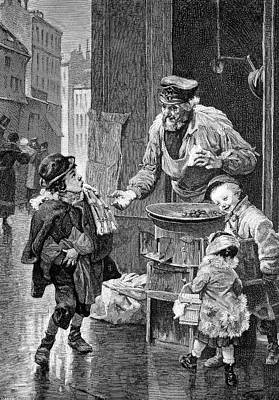19th Century Chestnut Vendor Art Print by Bildagentur-online/tschanz