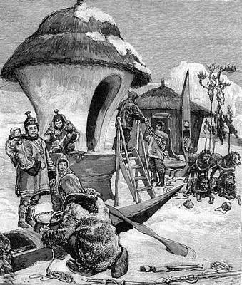 19th Century Eskimo Village Art Print by Collection Abecasis