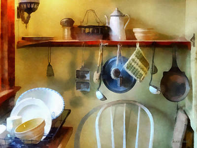 Photograph - 19th Century Farm Kitchen by Susan Savad