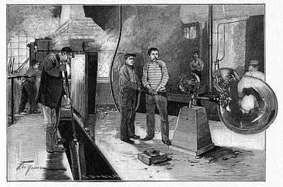 19th Century Glassblower's Workshop Art Print by Cci Archives