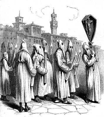 19th Century Italian Penitents Art Print by Collection Abecasis