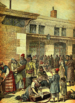19th Century Jewish Migrants Print by Collection Abecasis