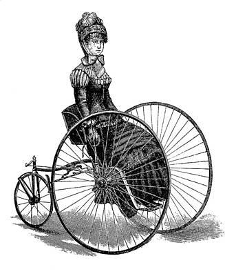 Ladies Bike Photograph - 19th Century Ladies Handcar by Bildagentur-online/tschanz
