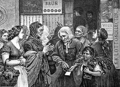 19th Century Lotto Players Art Print by Bildagentur-online/tschanz