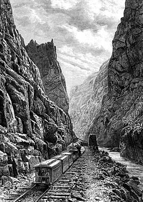 19th Century Rocky Mountains Railway Art Print by Collection Abecasis