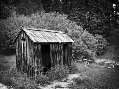 19th Century Side-by-side Community Outhouse Print by Daniel Hagerman