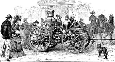 19th Century Steam Fire Pump Art Print by Collection Abecasis