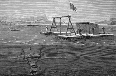 Undersea Photograph - 19th Century Underwater Shooting Attempt by Bildagentur-online/tschanz