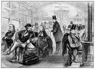 19th Century Usa Train Travel Art Print by Cci Archives