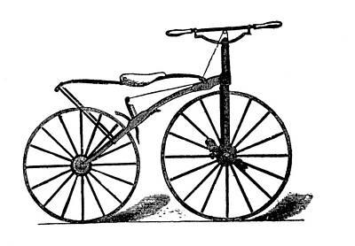 19th Century Velocipede Art Print by Bildagentur-online/tschanz