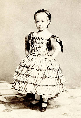 Tomboy Photograph - 1865 Defiant American Girl by Historic Image
