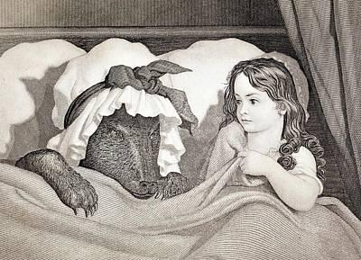 Riding Hood Photograph - 19thc. Child Predator Red Riding Hood by Paul D Stewart