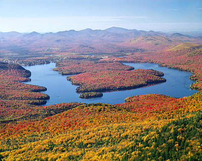 Photograph - 131712-lake Placid From Whiteface Mtn. by Ed  Cooper Photography