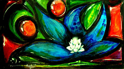 Shell Pastel Painting - 1st Flower Ever by Marcello Cicchini