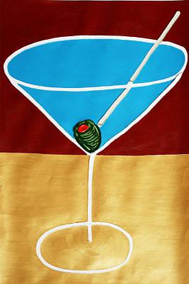 1st Martini Art Print by Matthew Brzostoski