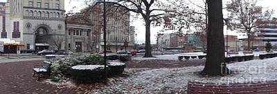 Photograph - 1st Snow Public Square by Christina Verdgeline