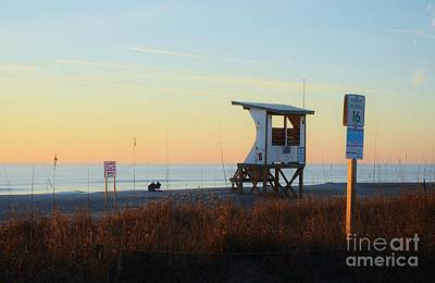 Photograph - 1st Sunrise Of 2015 At Lifeguard Station 6 by Bob Sample