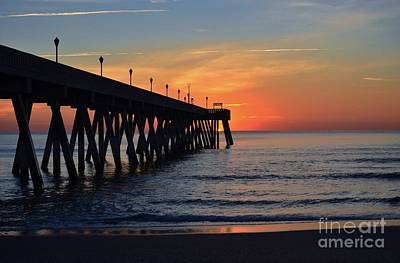 1st Sunrise Of 2015 - 4 Art Print by Bob Sample