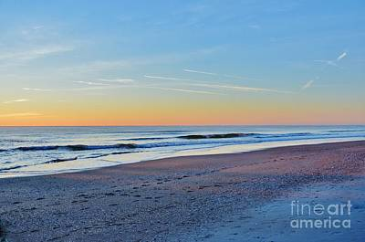 Photograph - 1st Sunrise Of 2015 At Wrightsville Beach Nc by Bob Sample