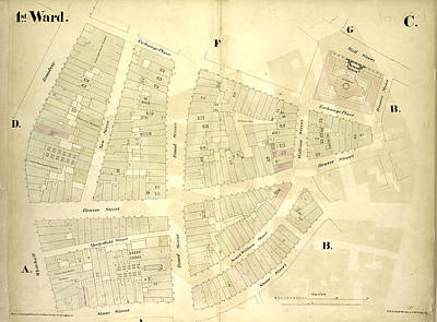 1st Ward. Plate C Map Bounded By Exchange Place, William Art Print by Litz Collection