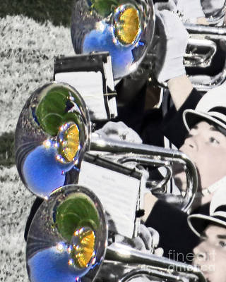 Marching Band Photograph - Mellophones On The Field by Tom Gari Gallery-Three-Photography
