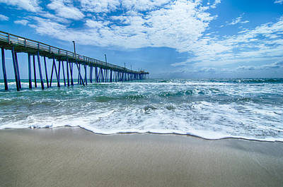 Photograph -  At Fishing Pier On The Outer Banks North Carolina by Alex Grichenko