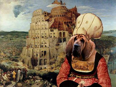 Bloodhound Painting -  Bloodhound Art Canvas Print  by Sandra Sij