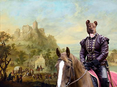 Painting -  Cao Fila De Sao Miguel - Azores Cattle Dog Art Canvas Print by Sandra Sij