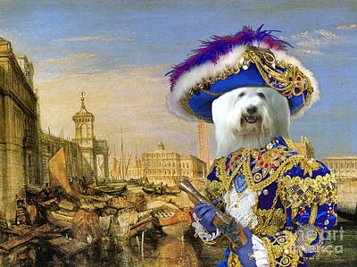 Dog Poster Painting -  Coton De Tulear Art Canvas Print by Sandra Sij