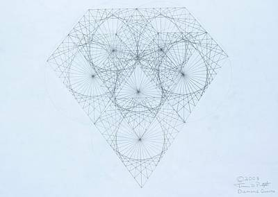 Drawing -  Diamond Quanta by Jason Padgett