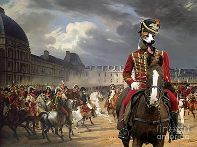 Painting -  Magyar Agar - Hungarian Greyhound Art Canvas Print by Sandra Sij
