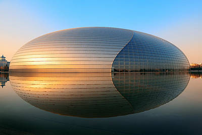 Modern Photograph -  National Centre For The Performing Arts by Songquan Deng