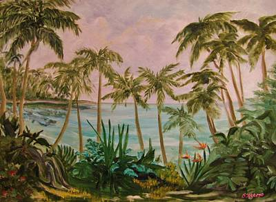 Art Print featuring the painting   Paradise  Found by Beth Arroyo