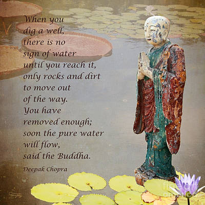 Photograph - ... Said The Buddha by Gabriele Pomykaj