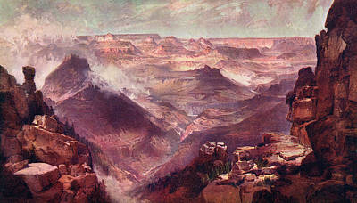 Grand Canyon Drawing -  The Grand Canyon Of The  Colorado by Mary Evans Picture Library