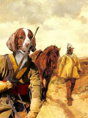 Nobilitydogs Painting -  Welsh Springer Spaniel Art Canvas Print by Sandra Sij