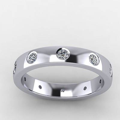 18k Jewelry - 14k White Gold Diamond Eternity Band by Eternity Collection