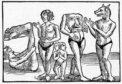 Fantastique Photograph - 16th Century Woodcut Print by CCI Archives