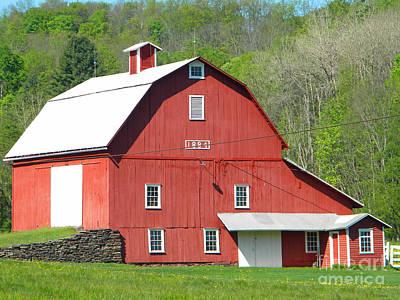 Photograph - 1884 Barn 3 by Doug Heavlow