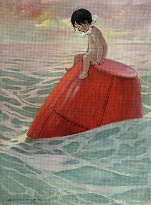 Tom Boy Painting - 1910s 1916 Illustration From The Water by Vintage Images