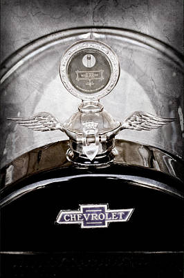 Touring Wall Art - Photograph - 1915 Chevrolet Touring Hood Ornament - Moto Meter by Jill Reger