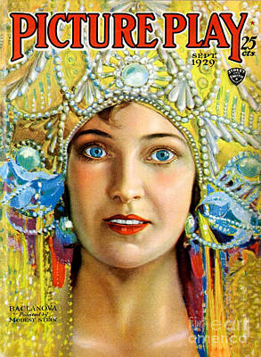 Stein Drawing - 1920s Usa Picture Play Magazine Cover by The Advertising Archives