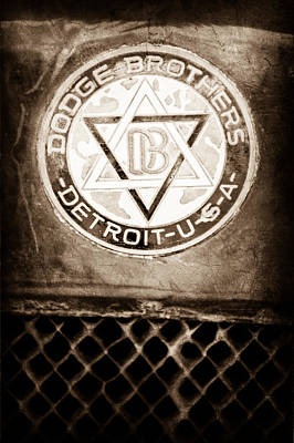 Depot Photograph - 1923 Dodge Brothers Depot Hack Emblem by Jill Reger