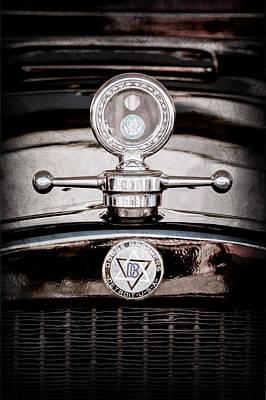 1928 Dodge Brothers Hood Ornament - Moto Meter Art Print by Jill Reger