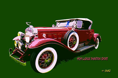 Sports Paintings - 1929 Lasalle Phaeton Sport by CHAZ Daugherty